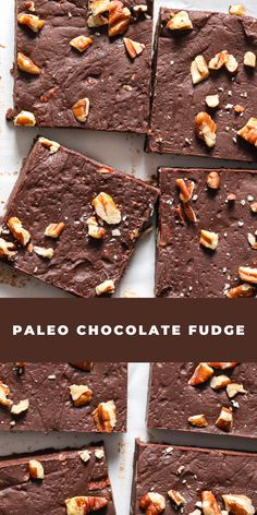 This Paleo Chocolate Fudge is so decadent and rich. With each piece full of chocolate flavor Paleo Chocolate, Chocolate Fudge, Chocolate Flavors, Gourmet Recipes, Vegan Recipes, Cooking Recipes, Yummy Recipes, Paleo Dessert, Dessert Recipes