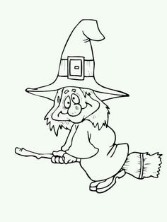 halloween witch on broom… Halloween Coloring Sheets, Witch Coloring Pages, Adult Coloring Pages, Coloring Books, Theme Halloween, Halloween Cards, Holidays Halloween, Vintage Halloween, Happy Halloween