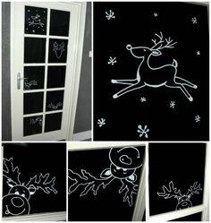 Christmas Drawing, Christmas Art, Christmas Holidays, Christmas Window Decorations, Christmas Chalkboard, Window Art, Chalkboard Art, Holidays And Events, Photography