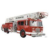 Found it at Wayfair - Classic Red Fire Engine Peel and Place Wall Decal