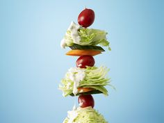 Salad on a Stick Recipe : Food Network Kitchens : Food Network - FoodNetwork.com Great idea for summer BBQ season