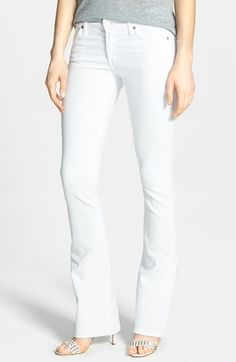 Citizens of Humanity 'Emannuelle' Slim Bootcut Jeans (Optic White) available at #Nordstrom