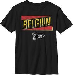 3c40ca1dc Fifth Sun Youth 2018 FIFA World Cup Belgium Slanted Black T-Shirt