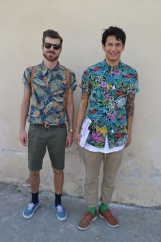 Summer Pattern Shirts. The one to the right! And his socks :-)