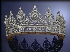 Prussian Diamond Tiara; Worn at: Wedding Ball of Otto Heinrich and Cecily --- 2016 Hanoverian National Day State Banquet --- Silver Jubilee of Empress Maria of Russia State Banquet