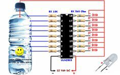 Electrical Engineering Books: Awesome water Level Indicator with ULN 2803 Electronics Projects, Electronic Circuit Projects, Electronics Components, Electronics Gadgets, Organize Electronics, Electrical Engineering Books, Electronic Engineering, Chemical Engineering, Civil Engineering