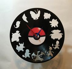 Whos that Vinyl Record Wall Clock by High5Design on Etsy
