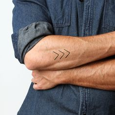 Down arrows temporary tattoos http://tattify.com/product/down/