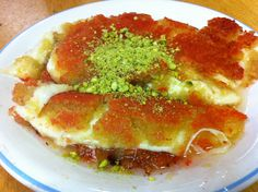 Knafeh, an authentic Palestinian sweet