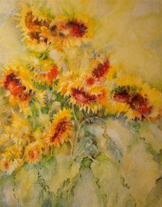 "For Sale: 'Cool the Heat' by Sandy Bennett | $250 | 16"" x 20"" | Original Art | http://www.arttwo50.com/buy/art/cool-the-heat"