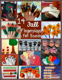 Preschool Circle Time Activities for Fall - 14 Fabulous Fingerplays and Felt…