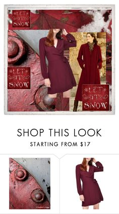 """Cranberry Christmas"" by jillsjoyagol ❤ liked on Polyvore featuring Miss Selfridge and Oliver Gal Artist Co."