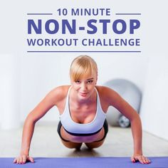 Try this 10 Minute Non-Stop Workout Challenge! #workoutchallenge #10minuteworkout