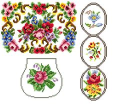 Odds and ends floral x 3 charts - Cross stitch pattern. Instant download.