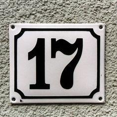 Emaille Hausnummer I Wei Schwarz Von Replicata Replikate