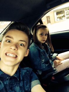 Reece and his little sister. Reece's face on this though :D lol