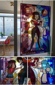 This is insanely awesome. it was done by Stained Glass Geek as a custom order. check out his etsy or facebook.