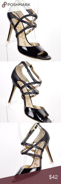0efea0795 Sam Edelman Aeryn Sandal Size 7.5 Black Patent Lea Sam Edelman Aeryn Sandal  Size 7.5 Black