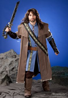 Check out our new costume patterns for MEN. Men's Medieval Tunic, Cloak & Accessories! #SimplicityPatterns