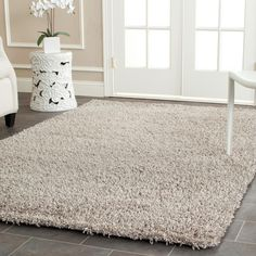 Monterey Shag Silver 2 ft. 6 in. x 4 ft. Area Rug