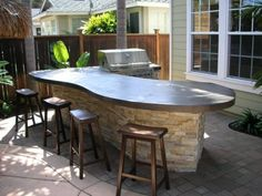 Built in bbq deck contemporary