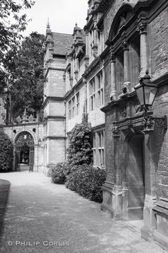 Courtyard, Oxford, England.