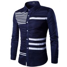 Cheap male slimming, Buy Quality brand dress shirt directly from China dress shirt Suppliers: Men Shirt Long Sleeve 2017 Brand Shirts Men Casual Male Slim Fit The Bars Printing Chemise Mens Camisas Dress Shirts XXL RUBFNKV Slim Fit Dress Shirts, Fitted Dress Shirts, Moda Peru, Gents Shirts, Casual Shirts For Men, Men Casual, Smart Casual, Chemise Slim Fit, Mens Designer Shirts