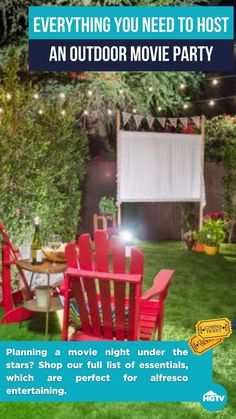Outdoor Movie Party, Outdoor Movie Nights, Outdoor Fun, Outdoor Decor, Outdoor Living Rooms, Outdoor Spaces, Backyard Creations, Fun Crafts To Do, Outdoor Projects