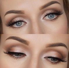 joli maquillage yeux bleus, comment maquiller les yeux bleus nos idées