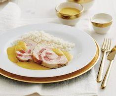 Rychlá krůtí svíčková   Recepty Albert Poultry, Grains, Rice, Meat, Chicken, Food, Backyard Chickens, Essen, Meals