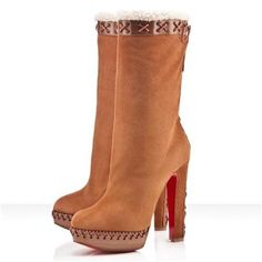 Luxury And Fashionable Christian Louboutin Step N Roll 140mm Boots Camel Gets More Praise From Customers! CL
