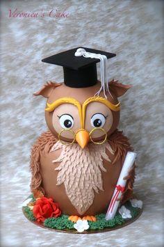 Owl graduation cake – cake by Owl Graduation Cake – Kuchen von Graduation Desserts, Graduation Cupcakes, Owl Cakes, Cupcake Cakes, Blackberry Cake, School Cake, Animal Cakes, Occasion Cakes, Savoury Cake