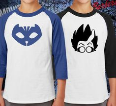 Hey, I found this really awesome Etsy listing at https://www.etsy.com/listing/489425263/pj-masks-colorblock-raglan-jersey-shirts