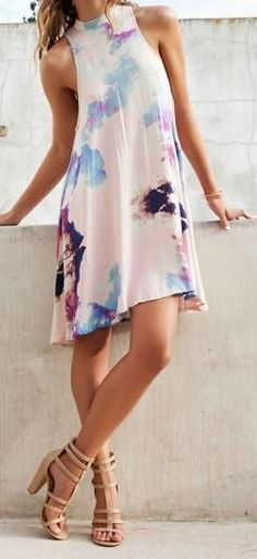 35901f1f37f summer outfits womens fashion clothes style apparel clothing closet ideas  white short dress brown heels Look