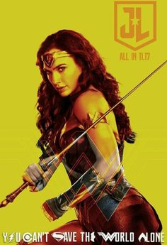 Justice League Movie Poster 2017 Featuring Diana Prince as Wonder Woman, Check out 19 Justice League Easter Egg - DigitalEntertainmentReview.com