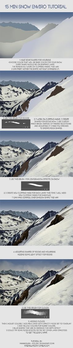 15 min Snowy enviro tutorial by mannequin-atelier on deviantART