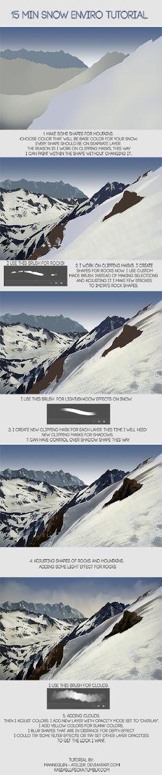 15 min Snowy enviro tutorial by mannequin-atelier on deviantART