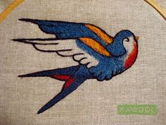 Kawool - Painting with wool Swallow