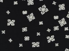 Cotton and Steel Black and White Paper Cuts Cotton Fabric in Black by Alexia Abegg