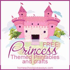 FREE Princess Themed Printables and Crafts
