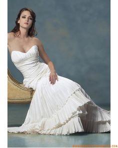 Mermaid Sweetheart Floor Length Attached Taffeta Wedding Dress Designer 2013