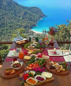 Muğla Fethiye Turkish breakfast in Turkey. Turkey Vacation, Turkey Travel, Cool Places To Visit, Places To Travel, Places To Go, Wonderful Places, Beautiful Places, Beautiful Sky, Turkey Places