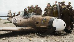 Bf 109F-2/Trop (WNr 8477) 1.JG27 (W11+) flown by Oberfeldwebel Albert Espenlaub, El Adem, Libya. 13th. December 1941. He survived the crash landing but as a POW in February '42, whilst trying to escape, was 'unceremoniously' shot dead.