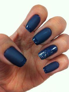Unhas Pintadas // Azul Fosco // Azul // Brilho // Esmalte