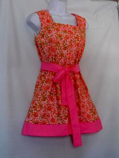 Handmade Dress From Vintage Pattern and Vintage by HappyRagz, $35.00