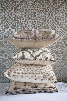 Montague - Tribal Chic for the Modern Nomad - Wedding Blanket Cushions Modern Moroccan, Moroccan Design, Moroccan Decor, Moroccan Style, Moroccan Bedroom, Moroccan Interiors, Ethno Design, Moroccan Wedding Blanket, Moroccan Lanterns