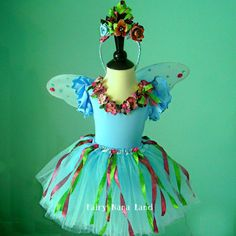 Fairy Costume  The Blue Giggle Garden by FairyNanaLand,
