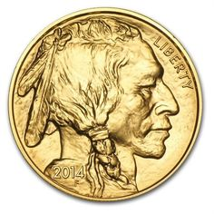 Liberty gold coin with native american indian. 2014. Gold, gold coins, liberty gold coin, gold investment.