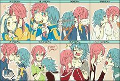 Gaby x Aitor Inazuma Eleven Go, Fujoshi, Cute Boys, Gabriel, Pokemon, Kawaii, Fan Art, Cartoon, Manga