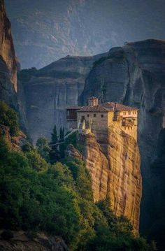 Meteora by Benjamin Warde The Roussanou Monastery, Greece Places Around The World, The Places Youll Go, Great Places, Places To See, Around The Worlds, Amazing Places, Beautiful World, Beautiful Places, Malta
